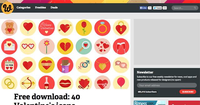 Free-download--40-Valentine's-icons---Webdesigner-Depot