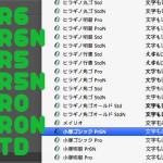 日本語フォントの後ろにある「Std/Pro/Pr5/Pr6」と「N」の意味