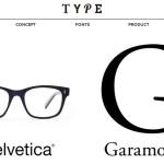 フォント+眼鏡好きにはたまらない!タイポグラフィから生み出された眼鏡「TYPE」