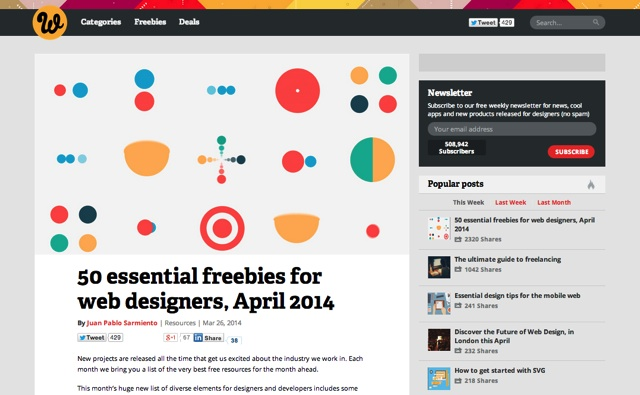 50 essential freebies for web designers  April 2014   Webdesigner Depot