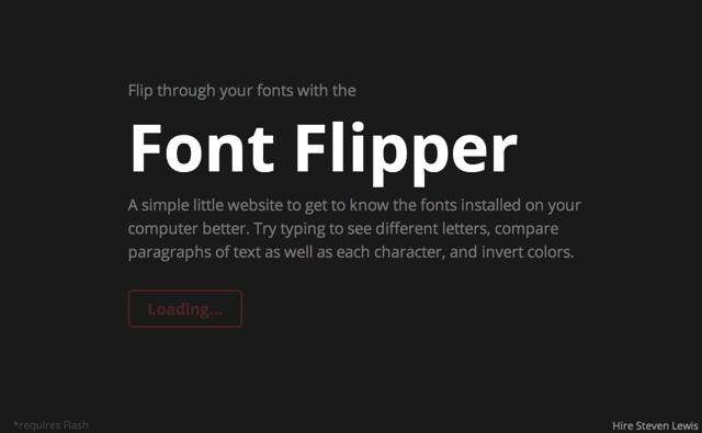 Font Flipper   Flip through your fonts