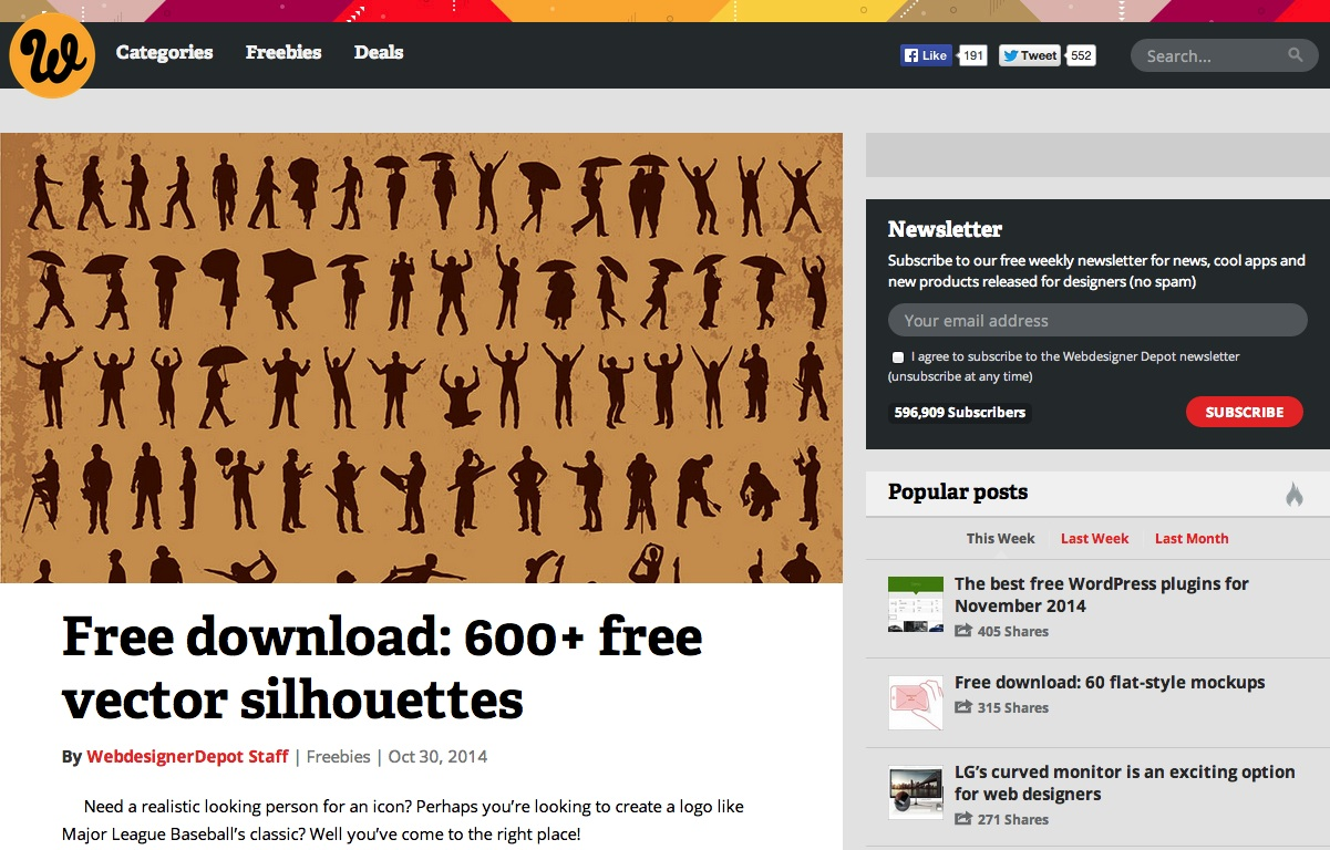 Free download  600  free vector silhouettes   Webdesigner Depot