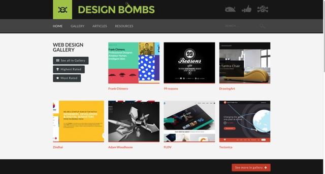 Design Bombs   CSS Web Design Gallery