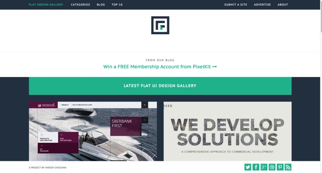 Flat design gallery   Finest collection of flat ui website designs   Flat Trendz
