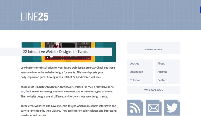 22 Interactive Website Designs for Events