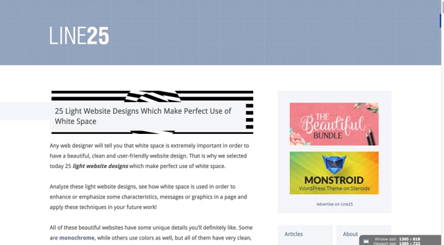 25 Light Website Designs Which Make Use of White Space