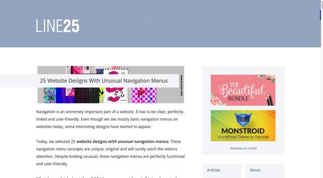 25 Website Designs With Unusual Navigation Menus
