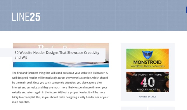 50 Website Header Designs That Showcase Creativity and Wit